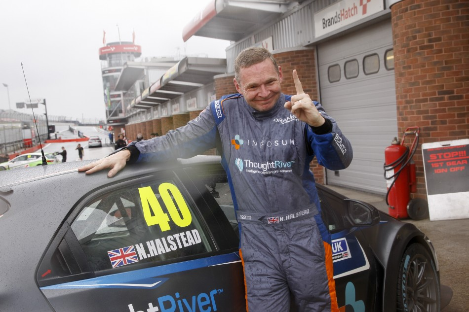 Nick Halstead Masters Conditions for Brands Pole
